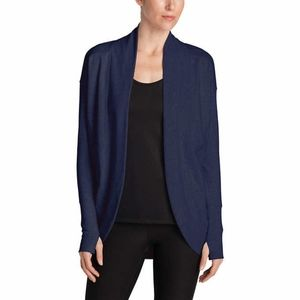 Eddie Bauer Ladies' Fleece Wrap Cardigan - Blue
